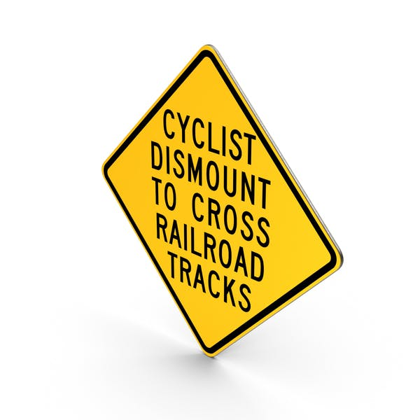 Thumbnail for Cyclist Dismount RR Crossing Sign