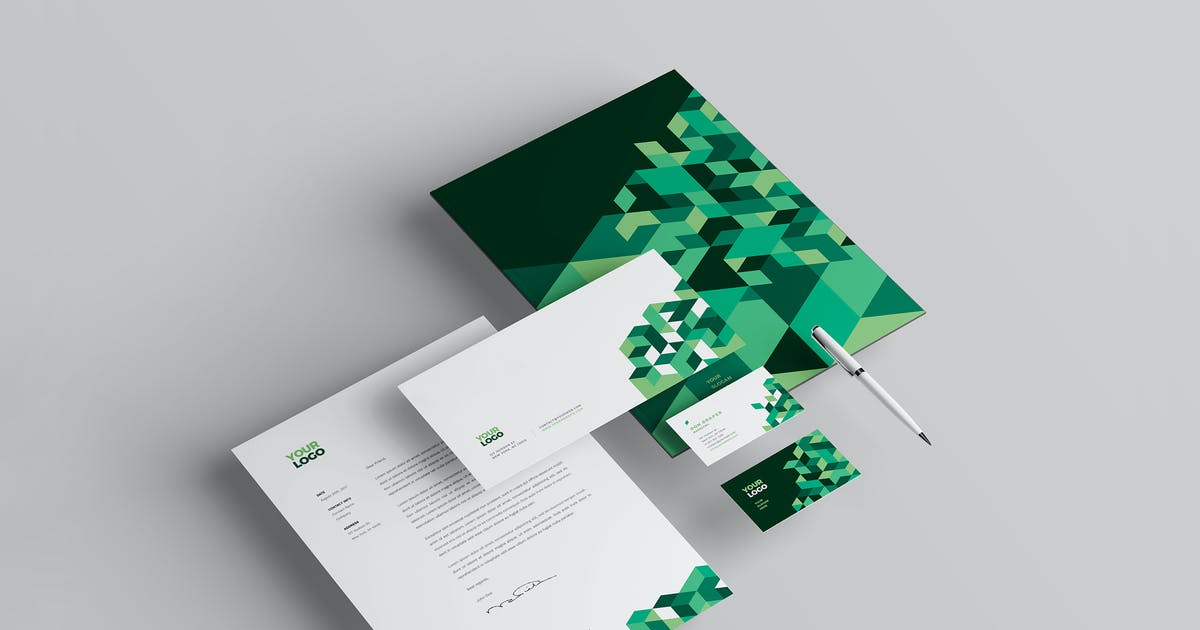 Download Cool Green Business Stationery by AbraDesign