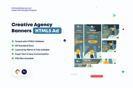 Creative, Startup Agency HTML5 Banners HTML5 Ad