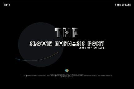 Slowik Enfatis-Regular Font