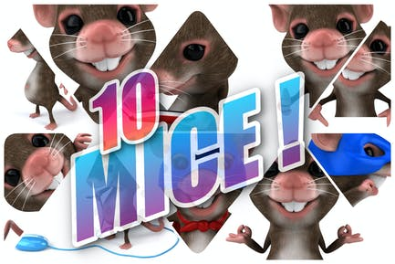 10 lustige Mäuse!