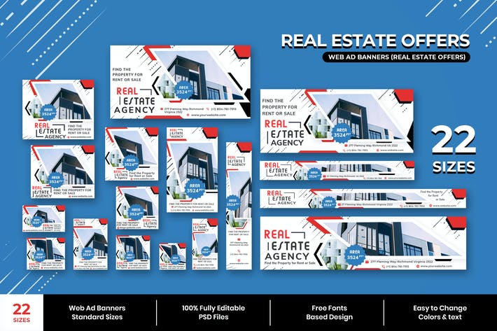 Thumbnail for Real Estate Web Ad Banners