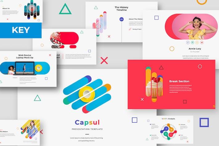 Thumbnail for Capsul Creative Keynote Presentation Template