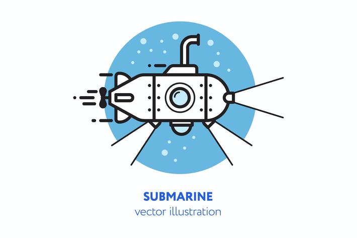 Cover Image For Submarine vector illustration