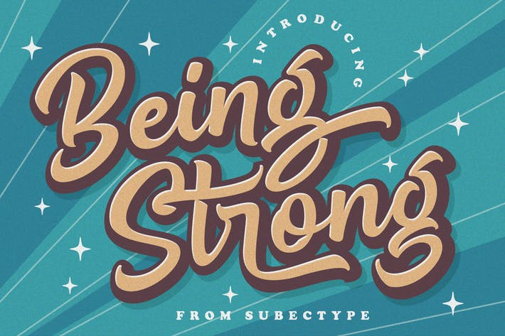 Thumbnail for Being Strong - Layered Font