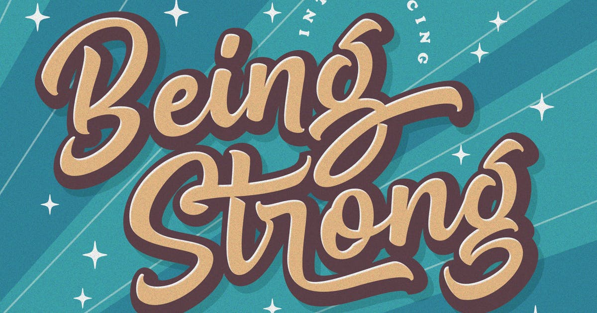 Download Being Strong - Layered Font by Subectype