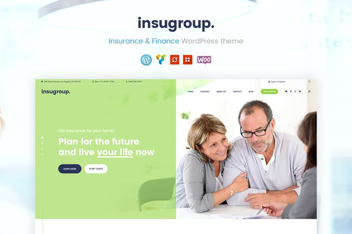 Thumbnail for Insugroup | A Clean Insurance & Finance WP Theme