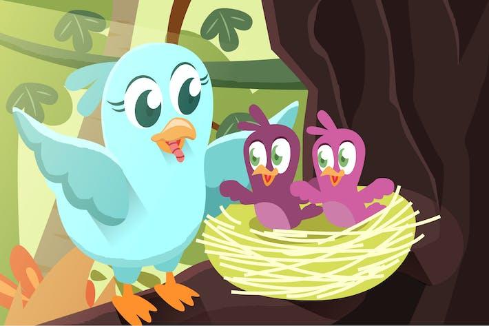 Thumbnail for Cute Bird - Vector illustration