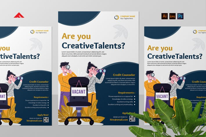 Thumbnail for Creative Job Hiring Flyer Advertisement