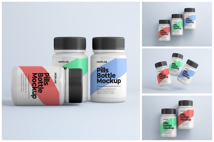 Thumbnail for Medical Pill Bottle Mockup Set
