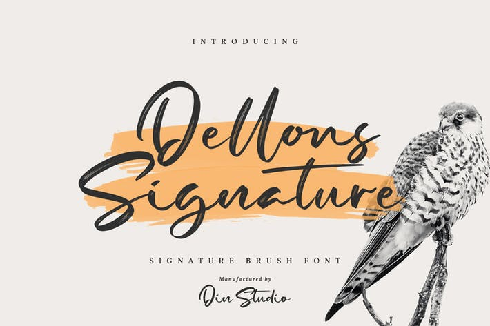 Thumbnail for Dellons Singature-Elegant Brush Font