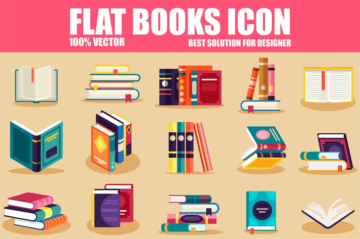 Thumbnail for Flat Books Icons