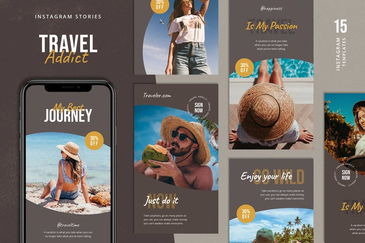 Travel Instagram Stories Template