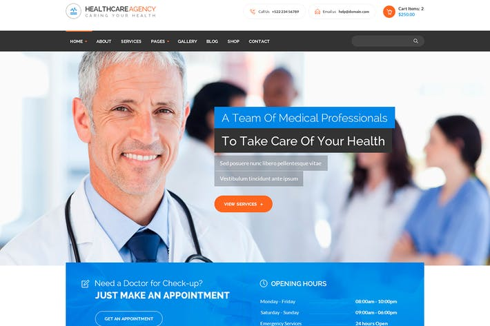 Thumbnail for Healthcare Agency - Health & Medical HTML