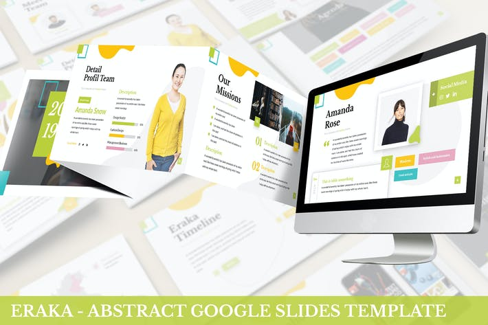 Cover Image For Eraka - Abstract Google Slides Template