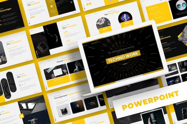 Thumbnail for Techno Work - Powerpoint Template