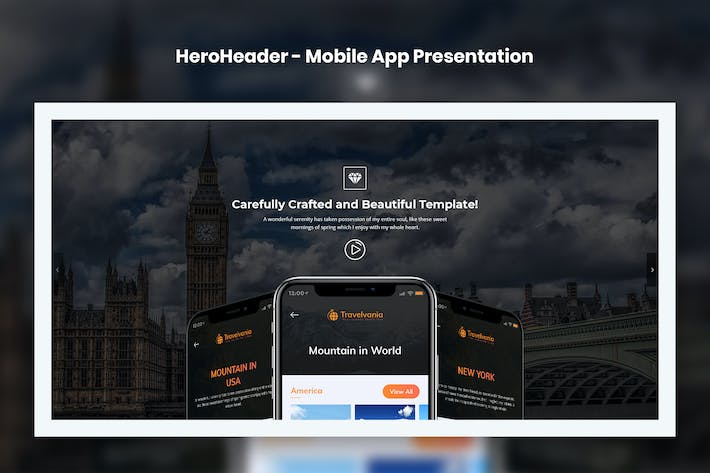 Thumbnail for HeroHeader for Mobile App Presentation Website-10