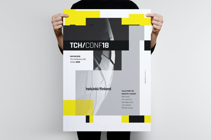 Thumbnail for Tech Poster Template