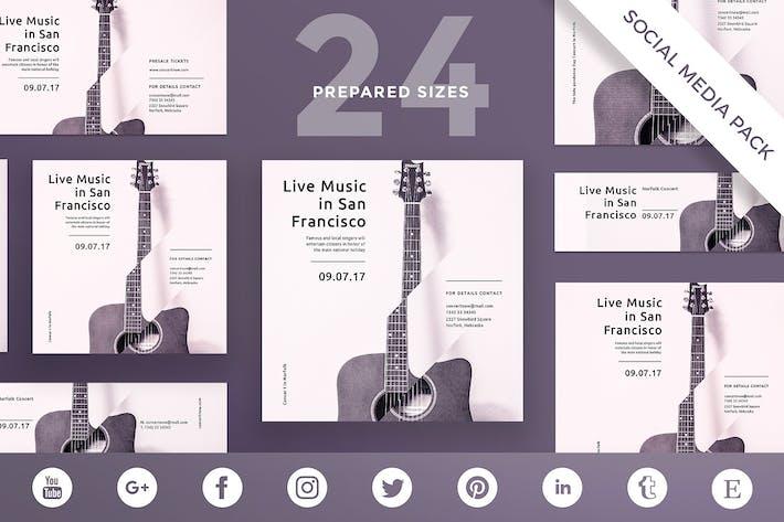 Music Concert Social Media Pack Template