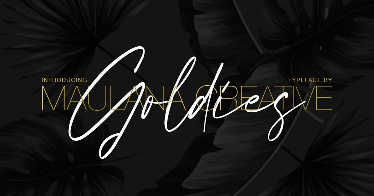 Download Goldies Signature Font by maulanacreative