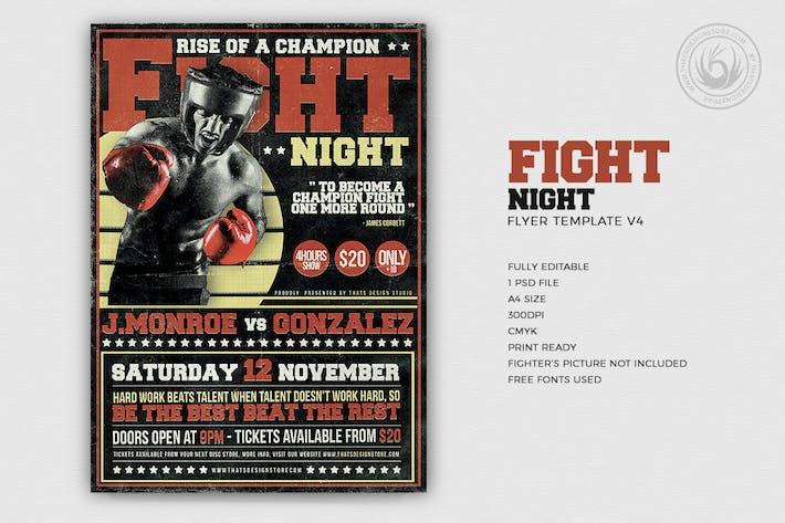 Thumbnail for Fight Night Flyer Vorlage V4