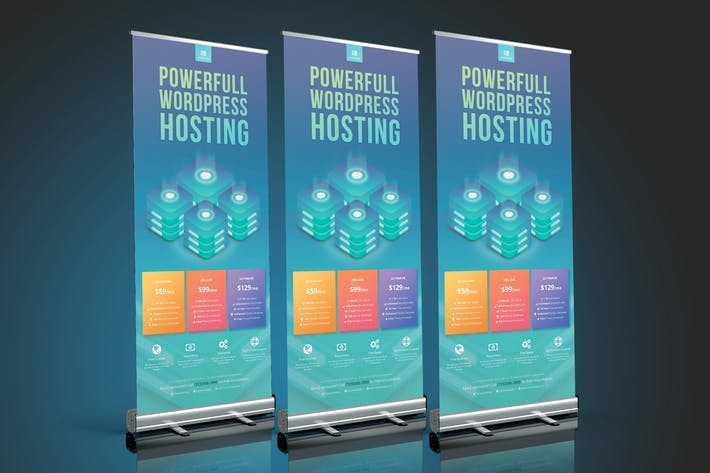Thumbnail for Wordpress Hosting Roll Up Banner
