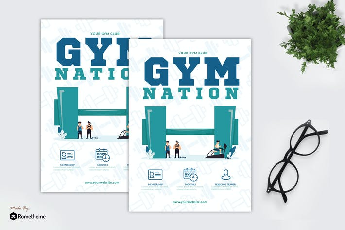 Thumbnail for Gym Nation - Creative Flyer GR