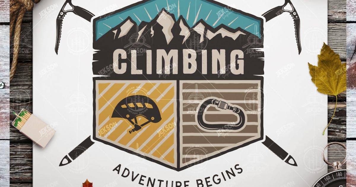 Download Travel Retro Badge / Vintage Climbing Logo Patch by JeksonJS