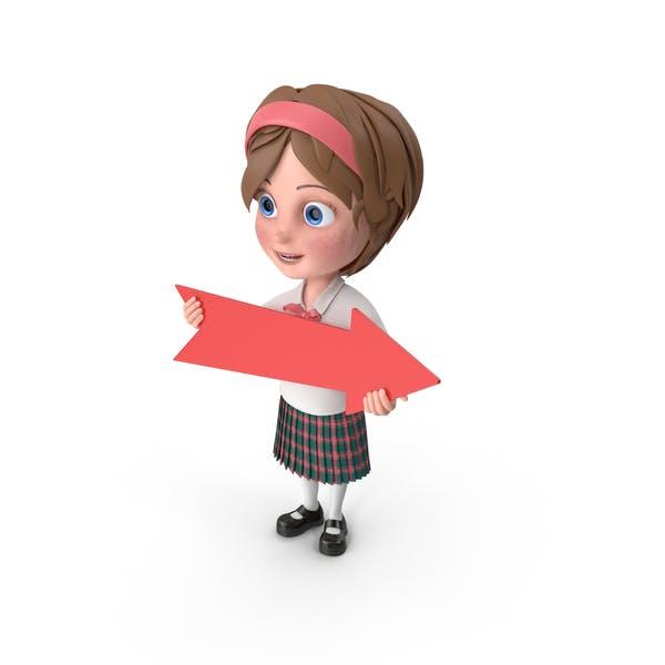 Thumbnail for Cartoon Girl Holding Arrow