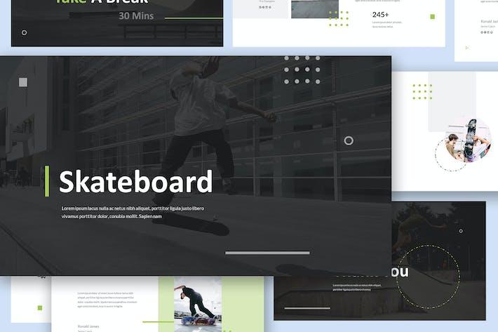 Шаблон презентации слайдов Google Скейтборд