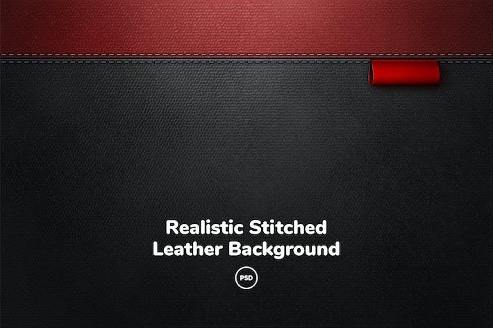 Thumbnail for Реалистичный сшитый кожаный фон