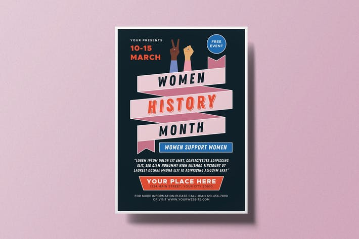 Thumbnail for Women's History Month Flyer