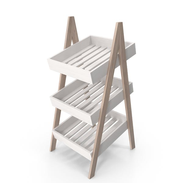 Wooden Toy Rack