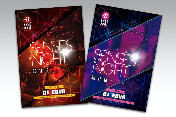 Thumbnail for Sense Night Flyer Poster