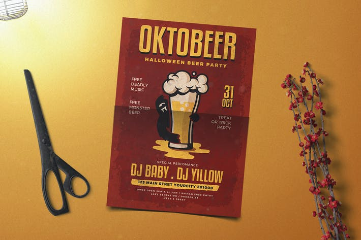 Cover Image For Oktober Halloween Flyer