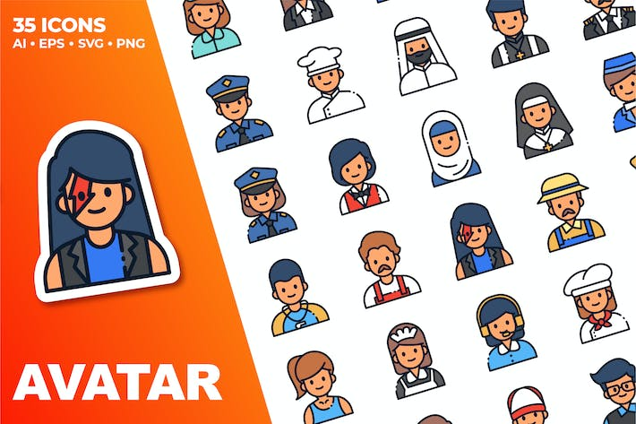 Avatar Icon Set