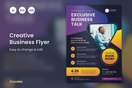 Creative Business Event Flyer 42 - Slidewerk