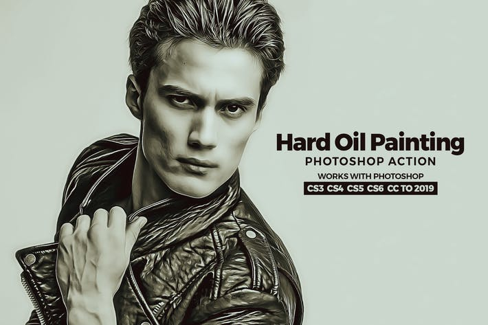 Thumbnail for Hard Oil Painting Photoshop Action