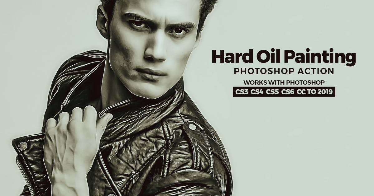 Hard Oil Painting Photoshop Action by Hemalaya1
