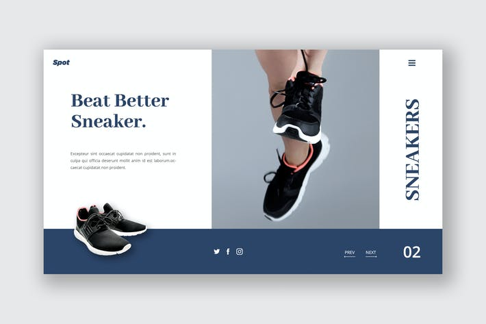Thumbnail for Footwear Ecommerce Hero Header Template