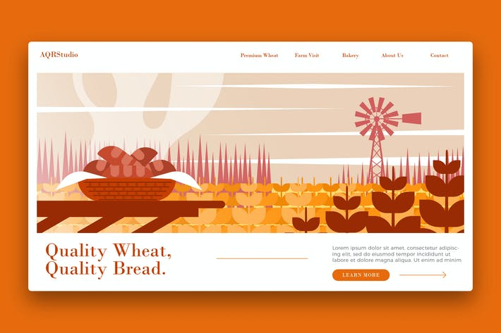 Thumbnail for Farm Wheat Farm - Banner & Landing Page