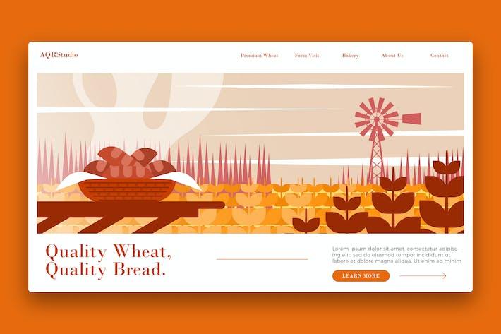 Thumbnail for Farm Wheat Farm - Banner & Landing Page