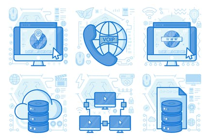 Web Address UI UX Illustrations
