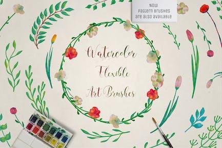 Illustrator Цветочные искусства & Pattern Кисти