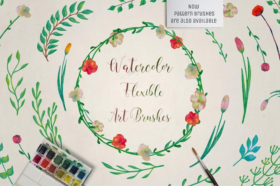 Illustrator Floral Art & Pattern Brushes