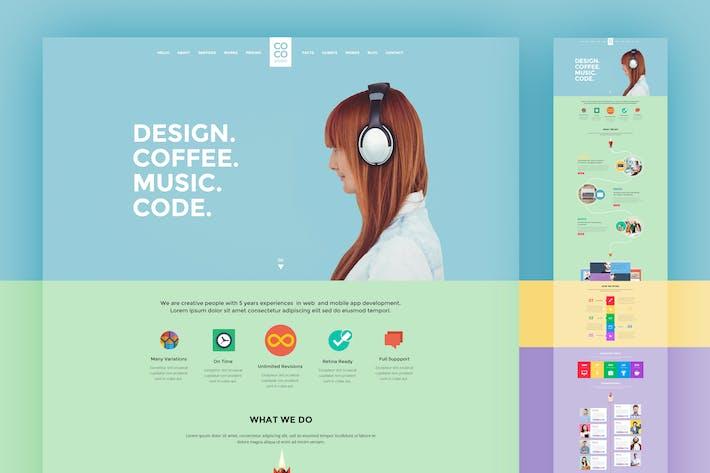 Thumbnail for PSD-Vorlage für kreatives Portfolio