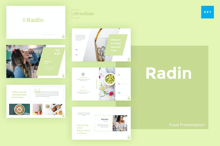 Thumbnail for Radin - Food Keynote Presentation Template