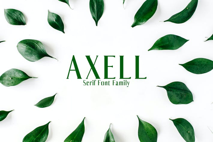 Cover Image For Axell Serif Font Family