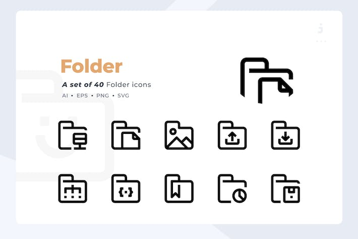 Thumbnail for Material Icon - 40 Folder icon set