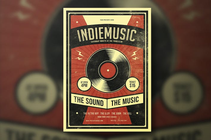 Thumbnail for INDIE MUSIC FLYER